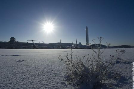 Les avions sous la neige
