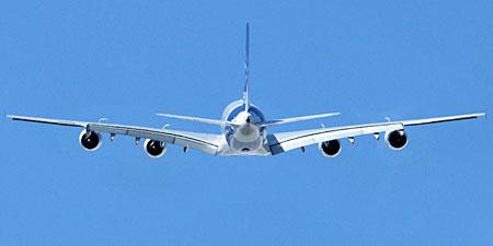 L'Airbus A380 au Salon du Bourget