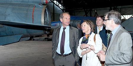 Gérard Longuet visite le musée de l'Air et de l'Espace