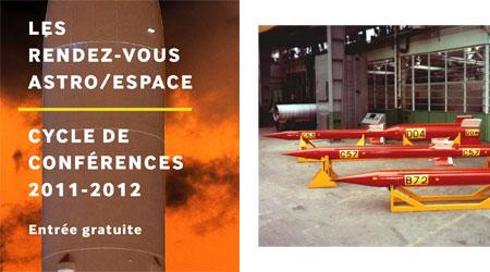 Conférences du 15 octobre 2011 : RDV astro-espace et AAAF