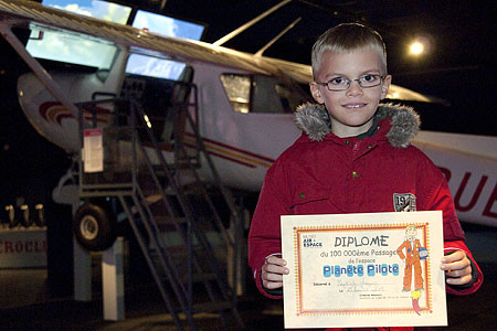 Baptiste, 100000e visiteur de Planète pilote