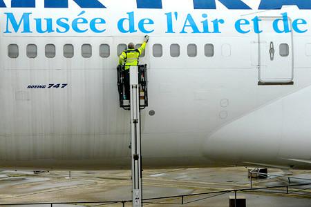 Nettoyage du Boeing 747